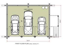 Garage Floor Plans With Living Quarters Garage Appealing 3 Car Garage Plans Design 3 Car Garage Plans