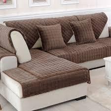 non slip cover for leather sofa fashion short plush sofa cushion cloth thickening flannel sofa