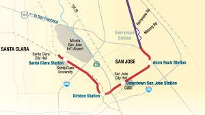 San Jose Map by Vta Wins 20 Million Grant For Bart Phase Ii Extension
