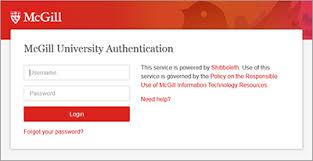 Shibboleth Login Accessing Online Resources Mcgill Library Mcgill University