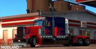 minecraft truck optimus prime skin for peterbilt 389 mod for american truck