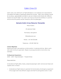 Resume For Flight Attendant Job by Cabin Crew Resume Format Resume Format