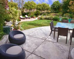 Concrete Slabs For Backyard by Transitional Patio With Concrete Slab Ideas U0026 Design Photos Houzz