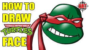 draw ninja turtles face