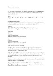 resume layout examples standard resume cover letter standard
