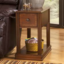 hardwood 10 inch chairside end table have to have it signature design by ashley breegin cherry chair