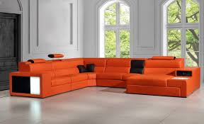 Dallas Sectional Sofa Polaris Contemporary Leather Sectional Sofa With Lights