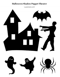 printable spooky house haunted house craft shadow box diy
