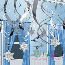 snowflake decorations ceiling hanging snowflake fan birthday hanging swirls decoration