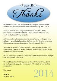 thanksgiving prayer to mother mary chapel of immaculate conception sg batu o blessed virgin mary