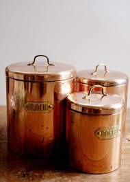 copper canisters and copper kitchen on pinterest