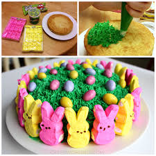 easy marshmallow peeps easter cake crafty morning