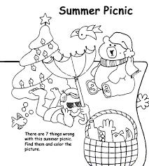 summer picnic coloring crayola