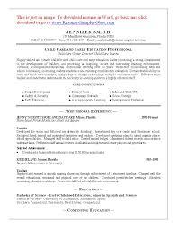 Sle Resume Of Child Caregiver 11 Child Care Sle Resume Best Riez Sle Resumes Riez