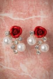 sweet earrings 50s diamonds pearls and a stud earrings
