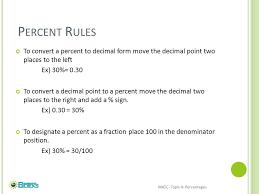 percent to decimal percents basic percent manipulations percent error ppt
