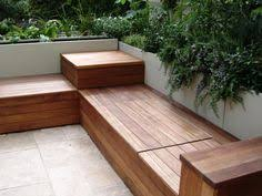 Simple Storage Bench Plans by Deck Bench But Wrap Around 3 Sides And Put A Table In The