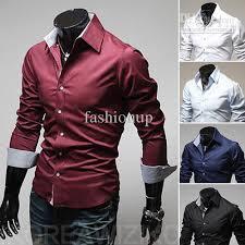 2017 korean shirt men collar shirt fitted shirts for men shirt
