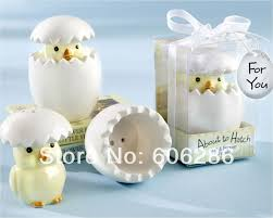 baby shower return gifts 200sets lot event party supplies about to hatch ceramic salt