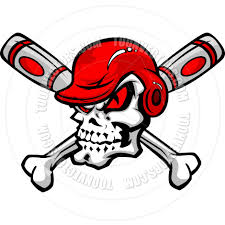 bats images clip art softball baseball skull and bats cartoon image by chromaco toon