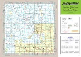 Truck Route Maps Truck Operator U0027s Map Oakland County Road Commission Mi