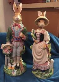 large rabbit figurine in world rabbits by fitz and