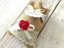 lace favor bags 10 burlap and lace favor bags color paper flowers wedding