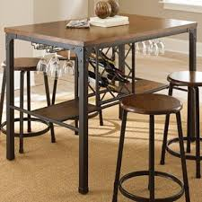 Dining Room Table With Wine Rack Pub Table With Wine Rack Wayfair