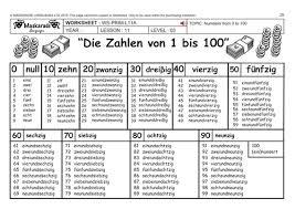 german ks2 level 3 ks3 year 7 practising numbers 1 to 100 my