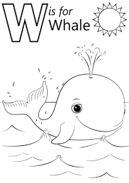 W Is For Whale Coloring Page Free Printable Coloring Pages Whale Color Page