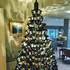 wine bottle christmas tree home