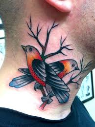 25 nice birds tattoos on neck