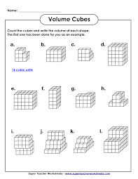 4th Grade Math Worksheets With Answers Volume Geometry With Cubic Units Pdf Math Worksheets