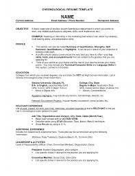 Additional Information On Resume Examples by Chronological Resume Features Modern Template Reverse Example