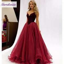 evening wear dresses for weddings stunning princess burgundy gown prom dresses 2016