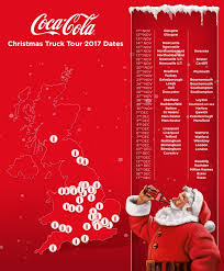 dates u0026 locations of the 2017 coca cola christmas truck tour