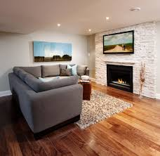 stone veneer fireplace family room contemporary with alabaster