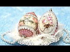 Easter Egg Decorating Ideas Youtube by Decoupage Tutorial Sospeso Trasparente On Easter Egg Youtube