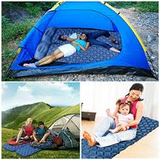 sleeping pad with innovation buckle design built in pillow