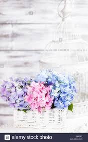 flower decor for home hydrangea flowers in the white basket flower decor for the home