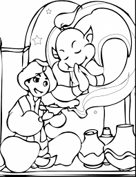 wonderful fairy tale coloring pages printable with aladdin