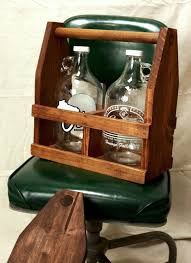 personalized 64oz growler beer tote wooden beer carrier ready to