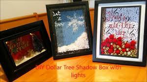 diy dollar tree shadow box with lights