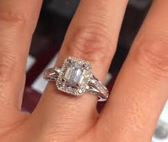 vintage emerald cut engagement rings vintage inspired 1 04 carat emerald cut engagement ring i do now