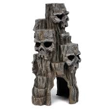 skull mountain aquarium ornaments petsolutions