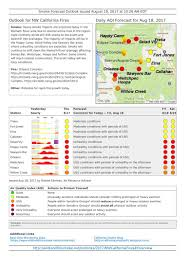 Wildfires California August 2017 by California Smoke Information 08 18 17