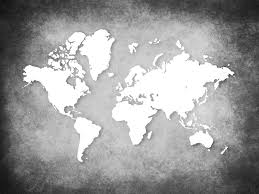 Black And White World Map World Map Backgrounds Wallpaper Cave