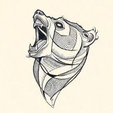 angry bear head tattoo design animal tattoo pinterest head