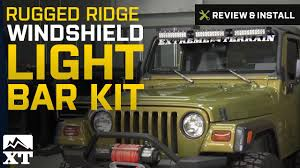 jeep wrangler rugged ridge windshield light bar kit 1997 2006 tj