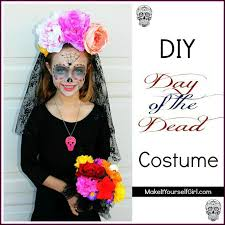 day of the dead headband diy day of the dead costume make it yourself girl